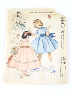 8557ca763ad Womens Vintage 50s McCalls Patterns at RustyZipper.Com Vintage Clothing