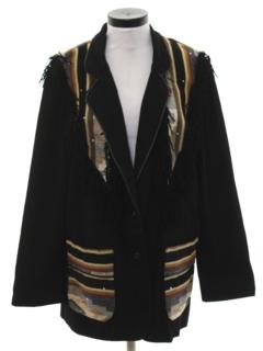 1990's Womens Western Boyfriend Style Blazer Sport Coat Jacket