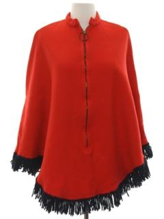 1960's Womens Mod Poncho Jacket
