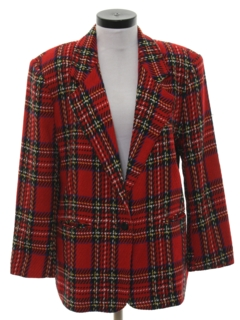 1990's Womens Boyfriend Style Blazer Sport Coat Jacket