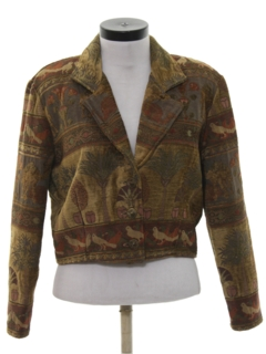 1990's Womens Wicked 90s Equestrian Style Coat Jacket