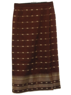 1990's Womens Hippie Wrap Style Skirt