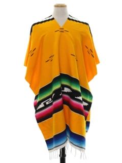 1980's Unisex Hippie Poncho Jacket