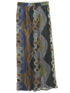 1990's Womens Maxi Hippie Skirt