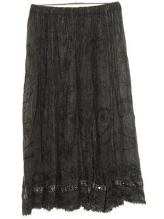 1990's Womens Broomstick Hippie Skirt