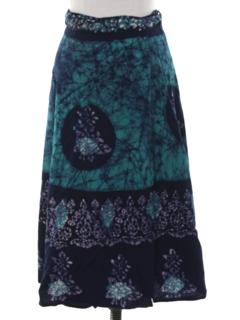 1970's Womens Hippie Wrap Skirt