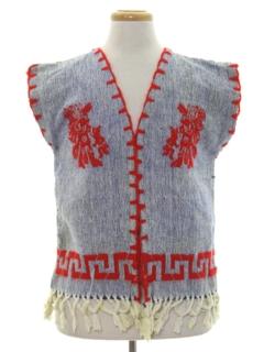 1960's Unisex Hippie Vest