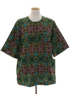 1980's Unisex Ethnic Style Hippie Shirt