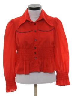 1970's Womens Prairie Style Western Shirt
