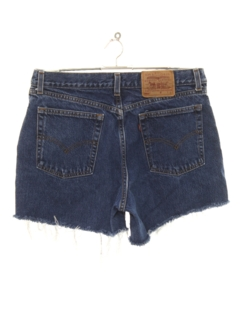 1980's Womens Highwaisted Denim Jeans Cut Off Shorts