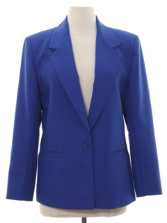 1980's Womens Totally 80s Boyfriend Style Blazer Sport Coat Jacket