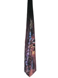 1990's Mens Designer Photoprint Necktie