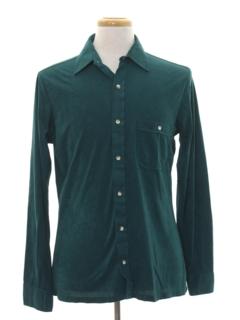 1980's Mens Totally 80s Velour Shirt
