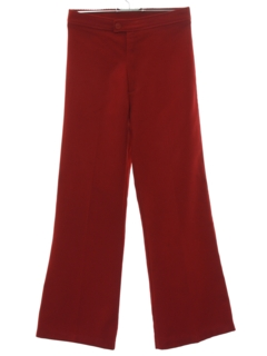 1970's Womens Flared Bellbottom Knit Pants