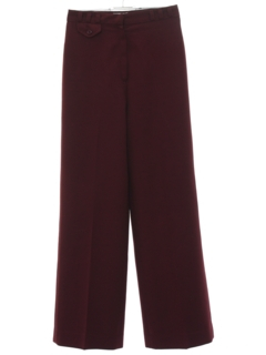 1980's Womens Flared High Waisted Knit Pants