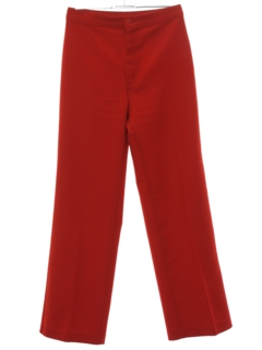 1980's Womens High Waisted Flared Knit Pants