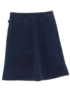 1980's Womens Denim Skirt