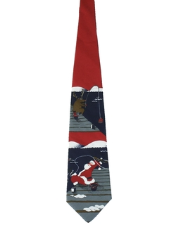 1980's Mens Christmas Necktie