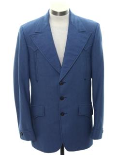 1960's Mens Mod Disco Western Blazer Sport Coat Jacket