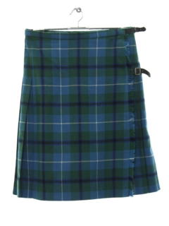 1950's Womens Scottish Kilt Style Skirt