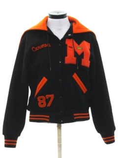 1980's Womens Wool Letterman Jacket