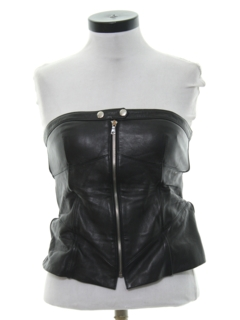 1990's Womens Wicked 90s Style Leather Shirt