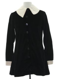 1960's Womens Mod Velvet Twiggy Style Jacket