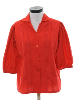 1980's Womens Square Dance Shirt