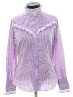1980's Womens Prairie Style Western Shirt