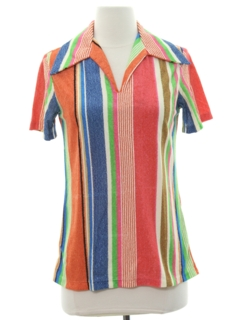 1960's Womens Mod Terry Cloth Shirt