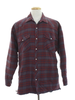 1990's Mens Winter Weight Western Flannel Shirt