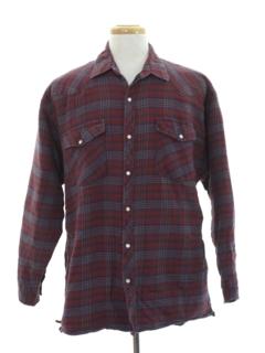 1990's Mens Winter Weight Western Flannel Shirt