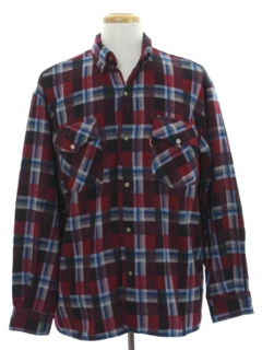 1980's Mens Wool Blend Shirt