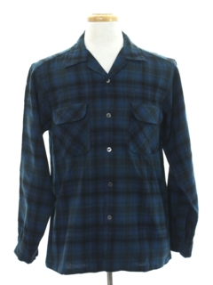 1960's Mens Pendleton Wool Board Style Sport Shirt