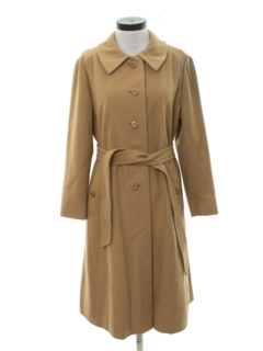 1950's Womens Mod Camel Hair Duster Coat Jacket