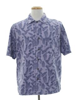 1990's Mens Rayon Hawaiian Style Sport Shirt