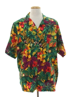 1980's Mens Totally 80s Hawaiian Shirt