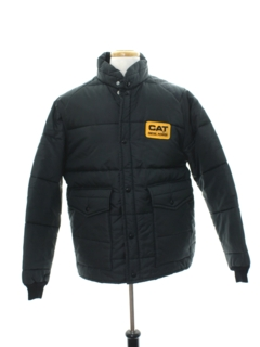 1980's Mens Puffy Ski Style Work Jacket