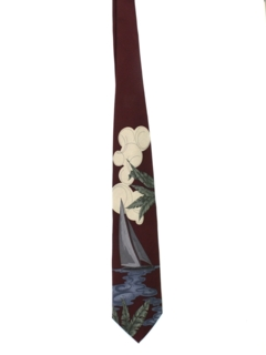 1980's Mens Sailing Necktie