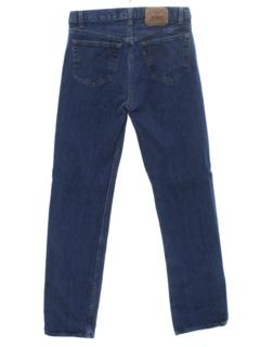 1980's Mens Levis 501 Straight Leg Denim Jeans Pants