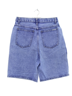 1980's Womens Designer Totally 80s High Waist Acid Washed Denim Shorts