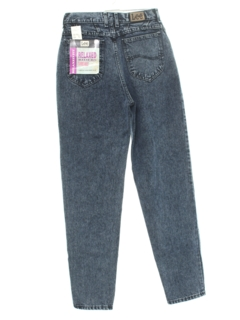1980's Womens Totally 80s High Waist Acid Washed Denim Jeans Pants