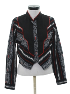 1980's Womens Totally 80s Style Western Shirt