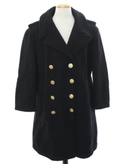 1960's Mens Navy Issue Wool Pea Coat Jacket