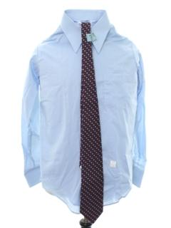 1970's Mens Solid Mod Shirt/Necktie