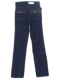 1970's Unisex Slight Bootcut Flared Denim Jeans Pants
