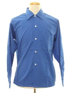 1960's Mens Solid Mod Sport Shirt