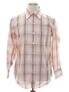 1970's Mens Print Mod Shirt