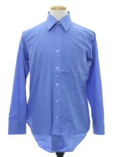 1960's Mens Solid Mod Shirt