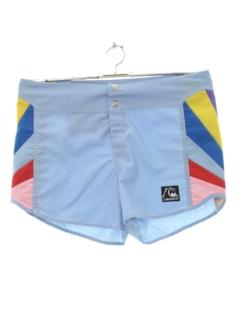 1980's Mens Totally 80s Rainbow Shorts